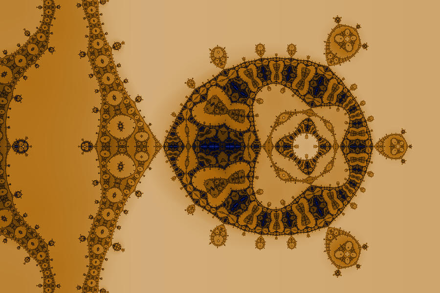 Abstract Digital Art - Blue Lace by Mark Eggleston