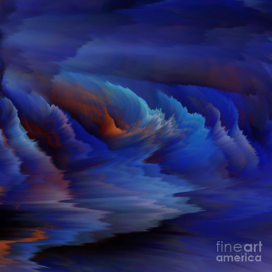 Blue Lagoon Digital Art  - Blue Lagoon Fine Art Print