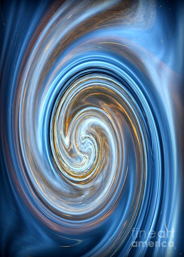 Blue Lagoon Swirls - Abstract Art Photograph
