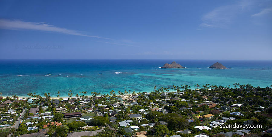 Blue Lanikai Overview Photograph  - Blue Lanikai Overview Fine Art Print
