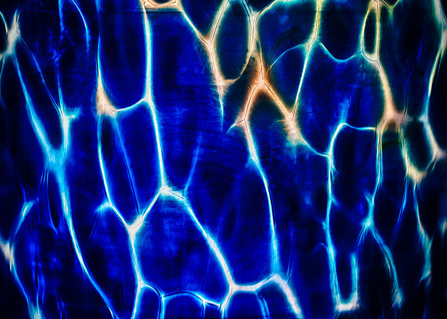 Blue Lava Photograph