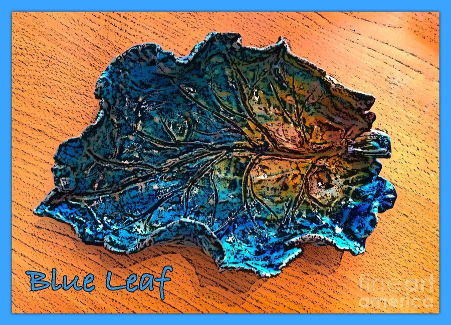 Blue Leaf Ceramic Design 2 Ceramic Art