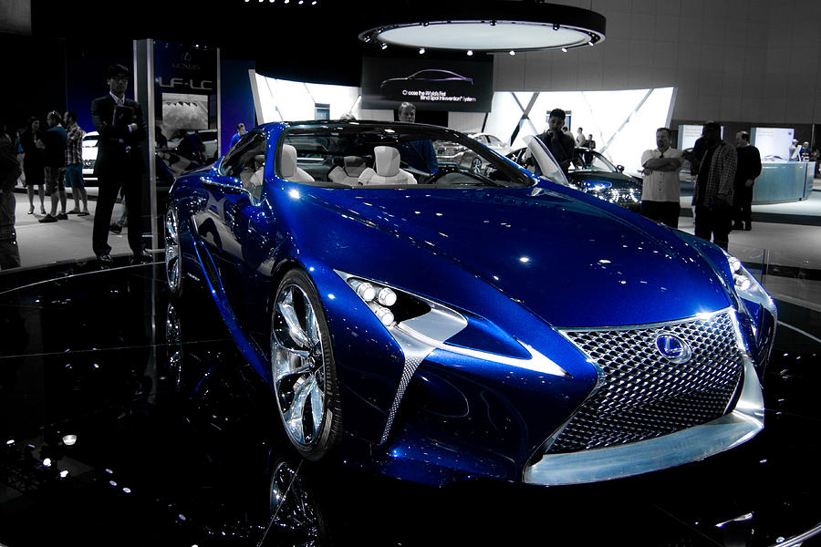 Blue Lexus Lf-lc Concept Photograph