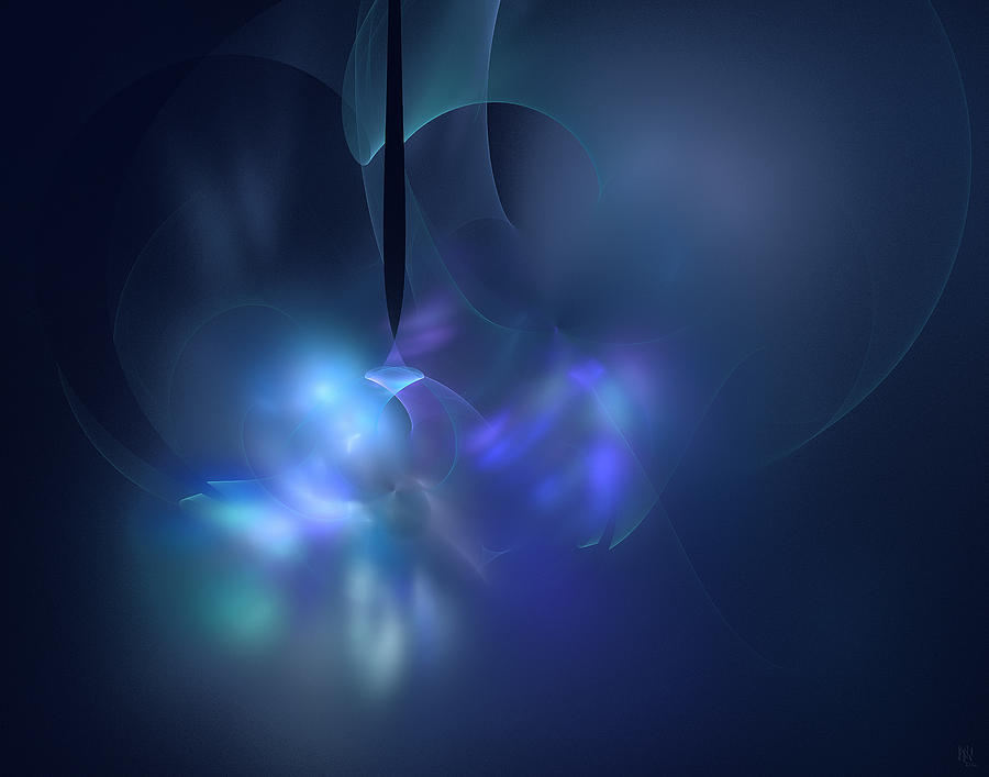 Blue Light Digital Art