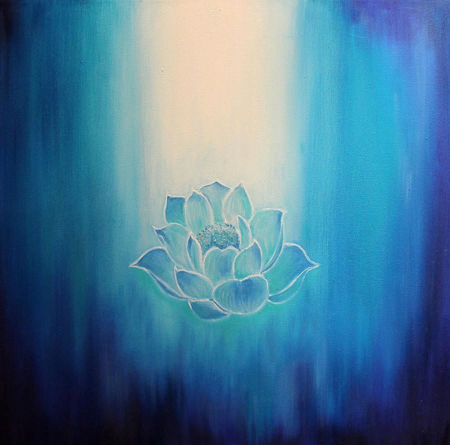 Lotus Painting - Blue Lotus by Alexandra Florschutz