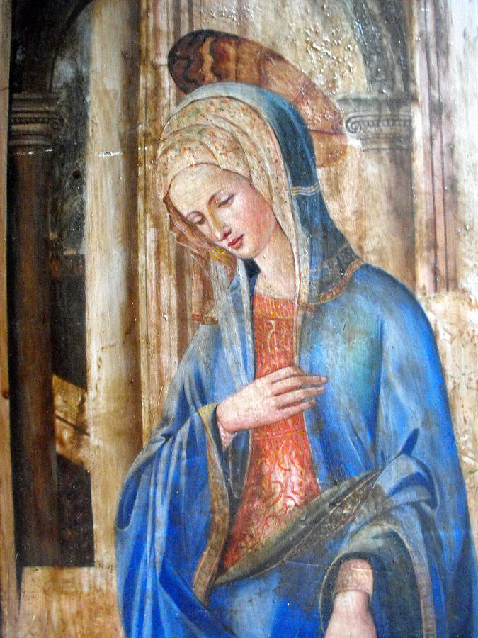 Blue Madonna Painting