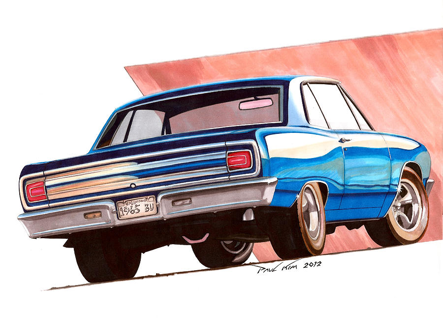 Blue Malibu Drawing  - Blue Malibu Fine Art Print