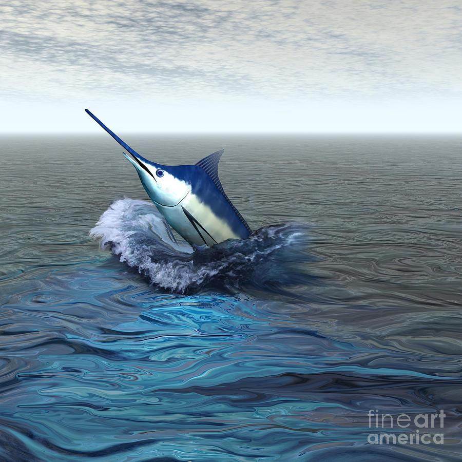 Blue Marlin Painting