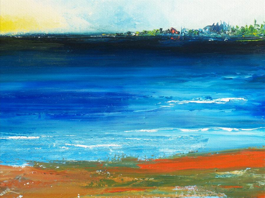 Nantucket Painting - Blue Mist Over Nantucket Island by Conor Murphy