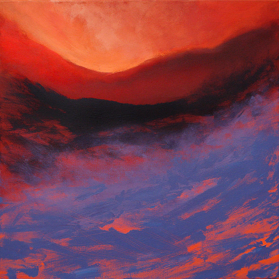 Blue Mist Rising Painting