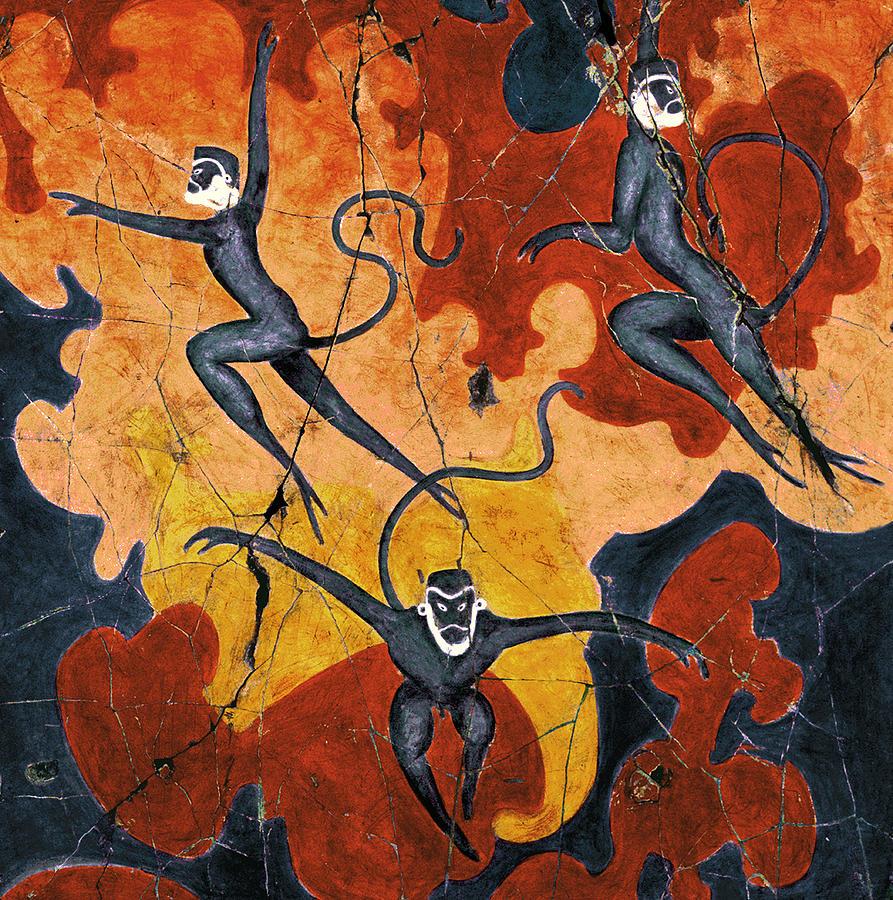 Monkeys Painting - Blue Monkeys No. 8 - Study No. 1 by Steve Bogdanoff
