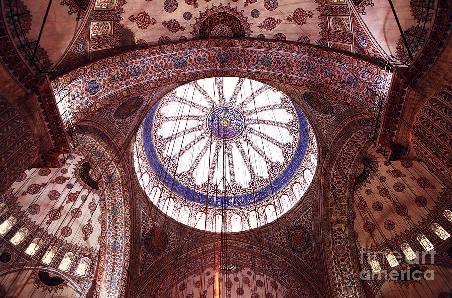 Blue Mosque Interior Photograph