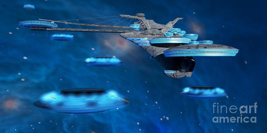 Blue Nebula Expanse Painting