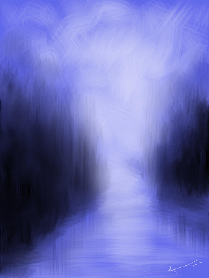 Blue Night Painting  - Blue Night Fine Art Print