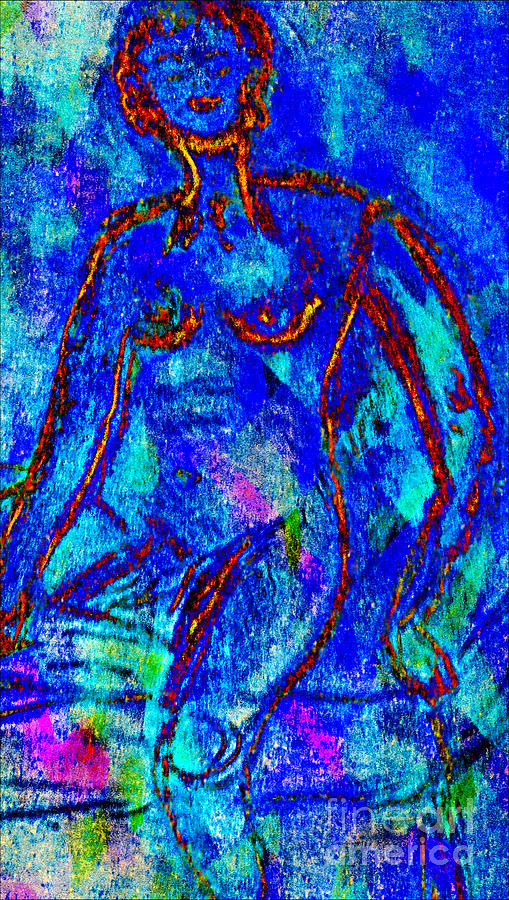 Blue Nude 2 Digital Art  - Blue Nude 2 Fine Art Print
