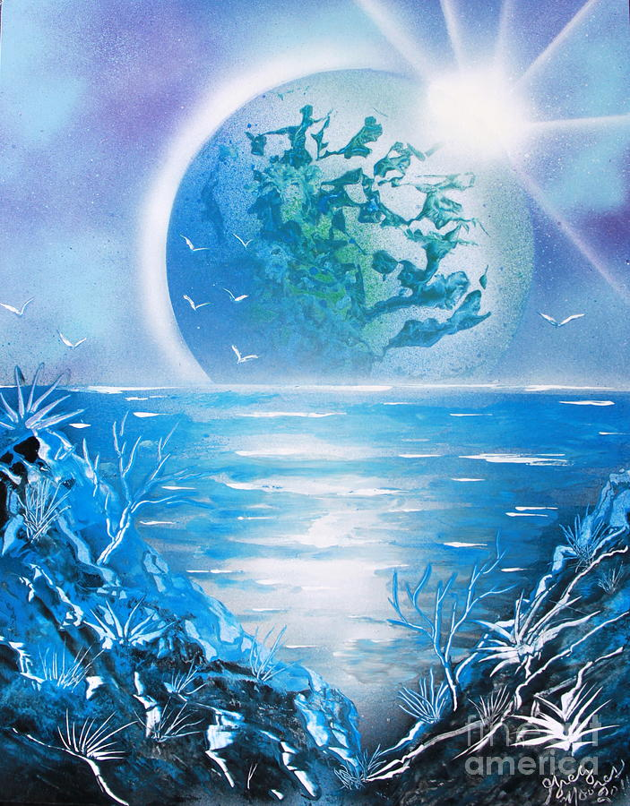 Blue Planet Painting