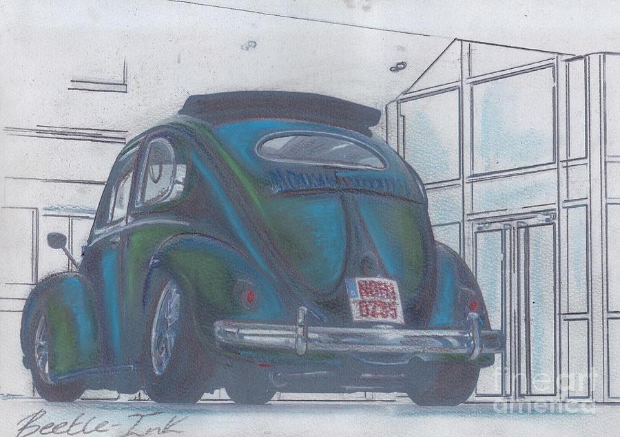 Vw Pastel - Blue Print by Sharon Poulton