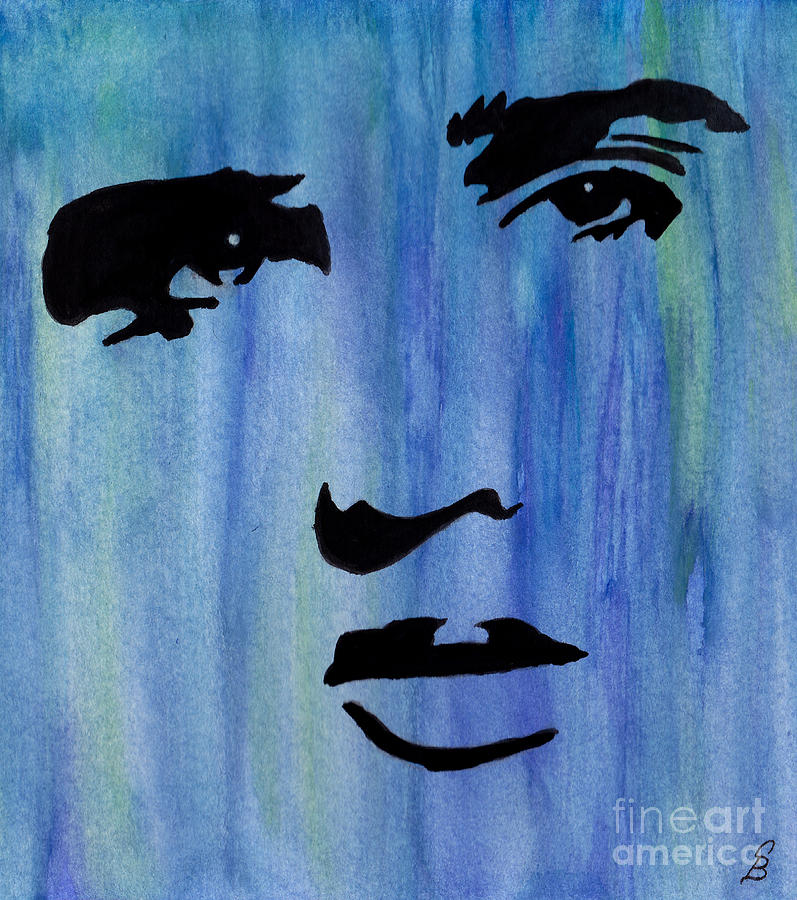 Elvis Presley Blue  Painting