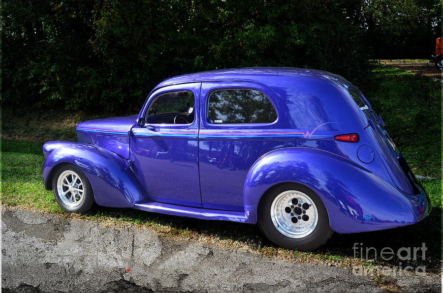 Blue Restored Willy Car Photograph