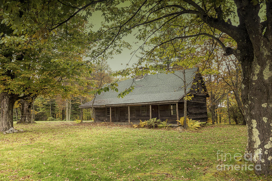 blue ridge mountain log cabin by robert loe