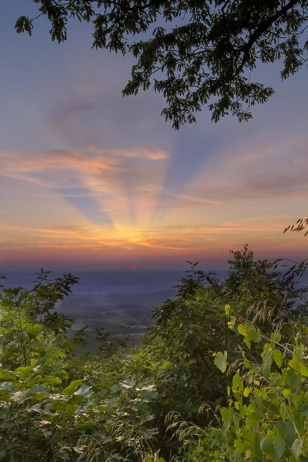 Blue Ridge Mountain Sunset Photograph