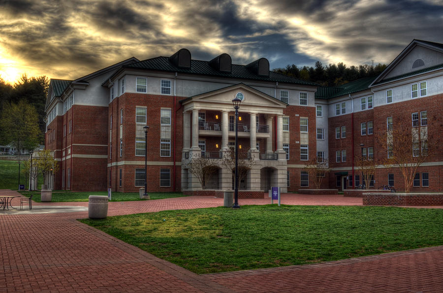 Blue Ridge Residence Hall - Wcu Photograph  - Blue Ridge Residence Hall - Wcu Fine Art Print
