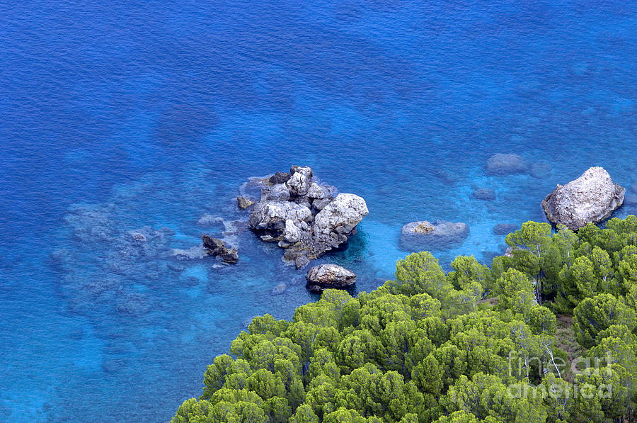 Blue Sea Photograph  - Blue Sea Fine Art Print