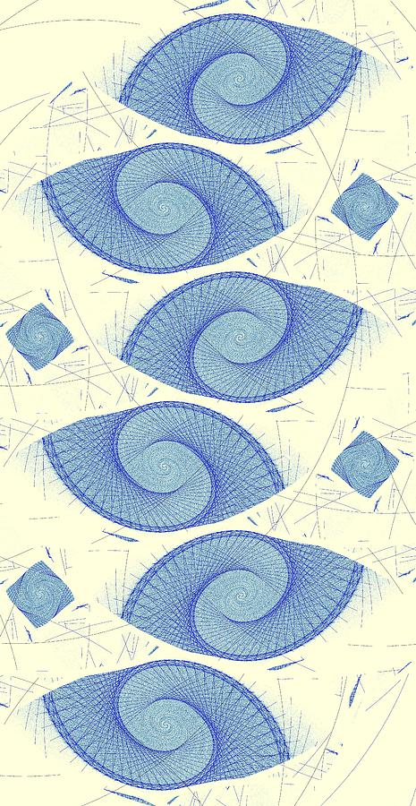 Blue Shells Digital Art  - Blue Shells Fine Art Print