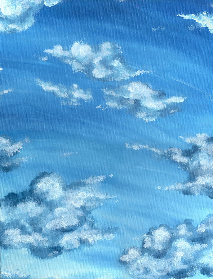 Blue Sky Painting  - Blue Sky Fine Art Print