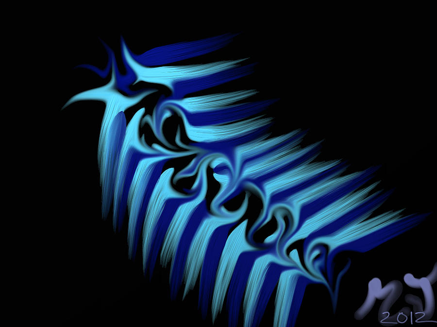 Blue Slug Digital Art