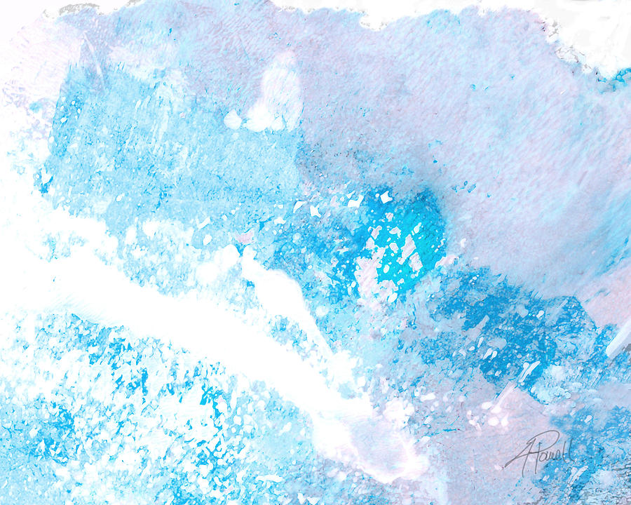 Abstract Mixed Media - Blue Splash by Ann Powell