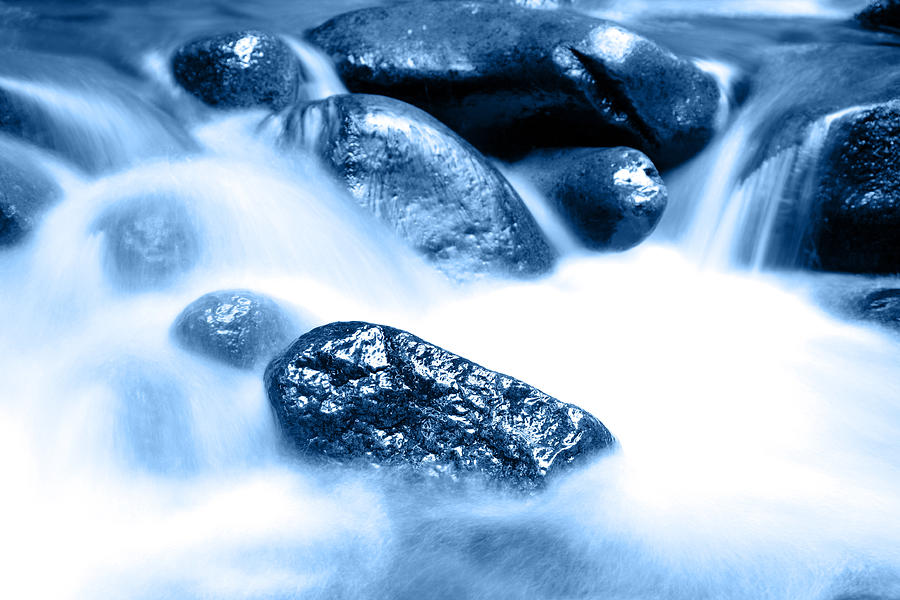 Blue Stream Photograph  - Blue Stream Fine Art Print