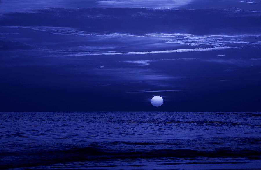 Blue Sunset Photograph  - Blue Sunset Fine Art Print