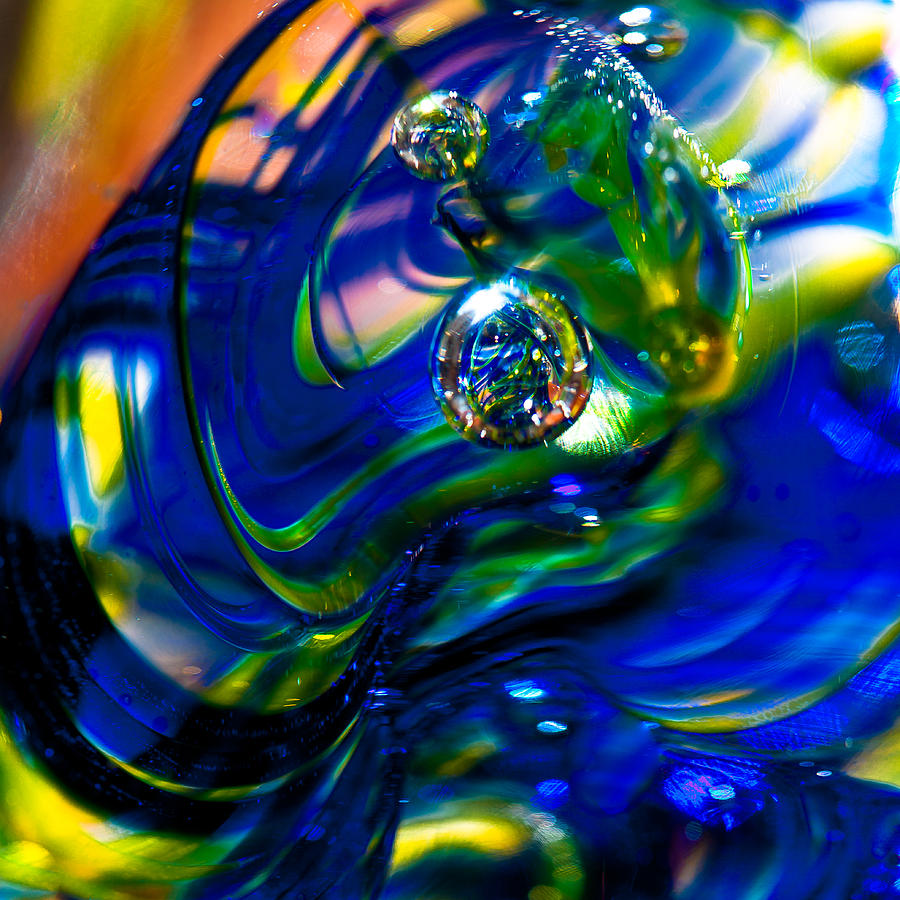 Blue Swirls Photograph