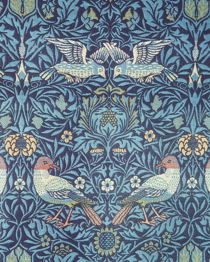 William Tapestry - Textile - Blue Tapestry by William Morris