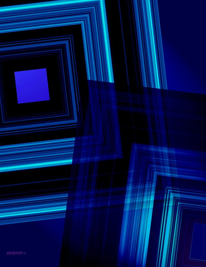 Blue Tones Digital Art  - Blue Tones Fine Art Print