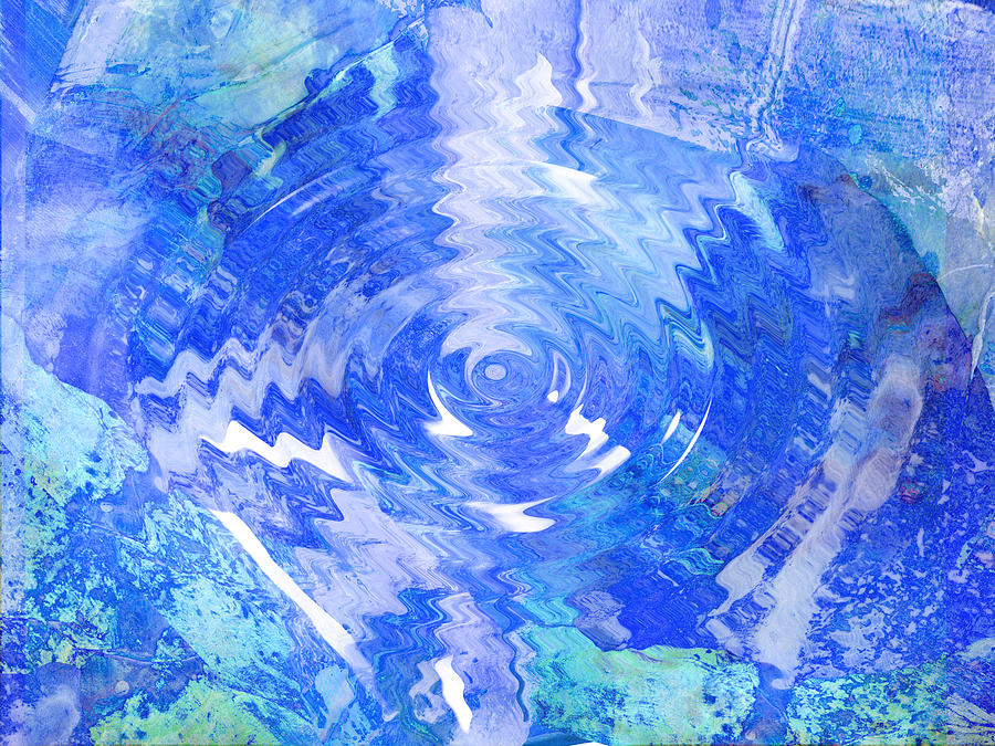 Blue Digital Art - Blue Twirl Abstract by Ann Powell