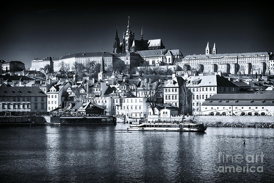 Blue Vltava View Photograph
