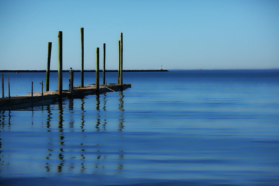 Landscape Photograph - Blue Water by Karol Livote