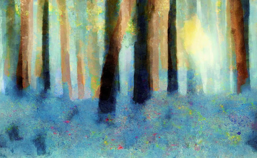 Bluebell Wood Painting  - Bluebell Wood Fine Art Print