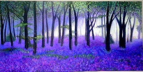 Bluebells Forest-bluebells Wood Painting