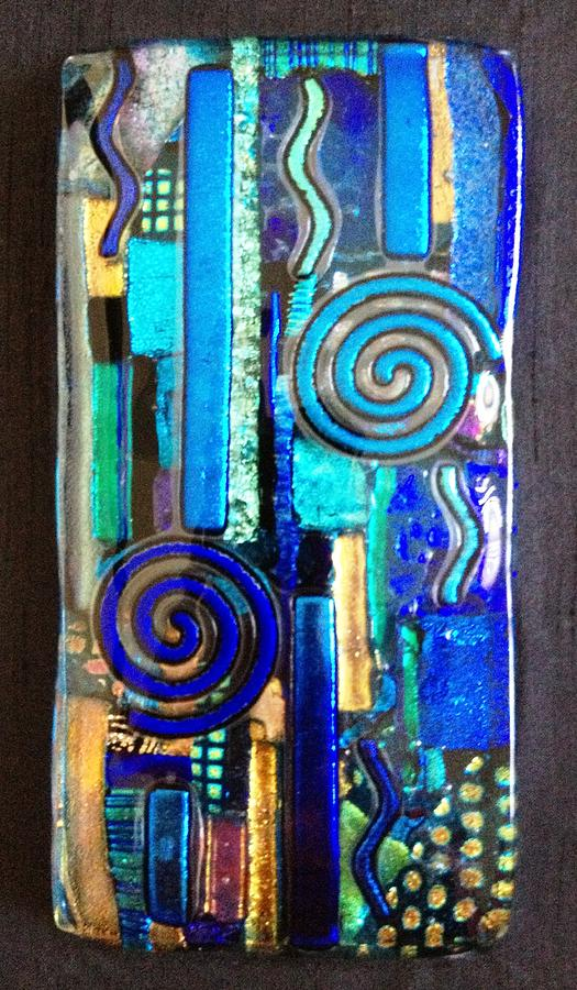Blues Glass Art