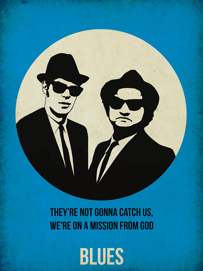 Painting - Blues Brothers Poster by Naxart Studio
