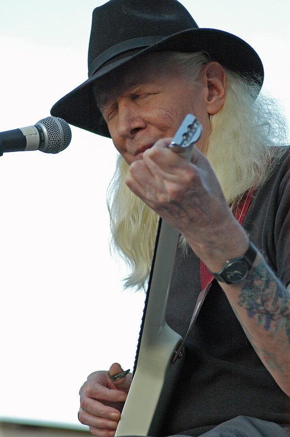 Bluesman Johnny Winter Photograph