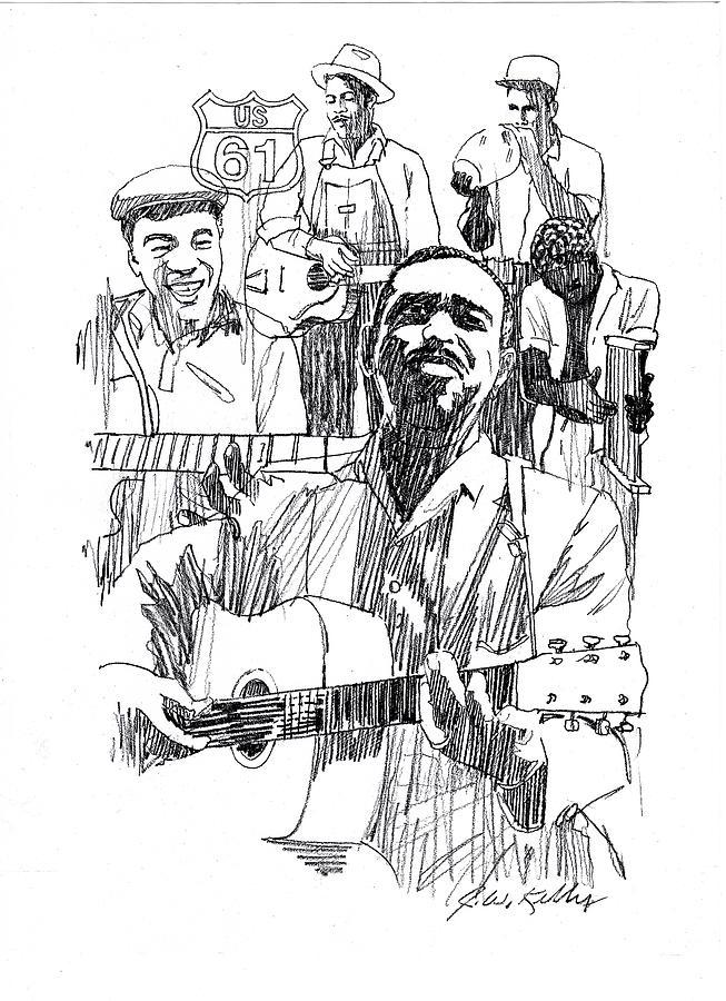 Bluesmen Drawing