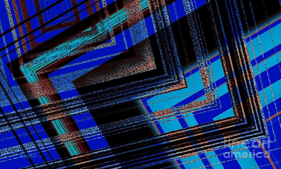 Bluish Geometric Design Digital Art