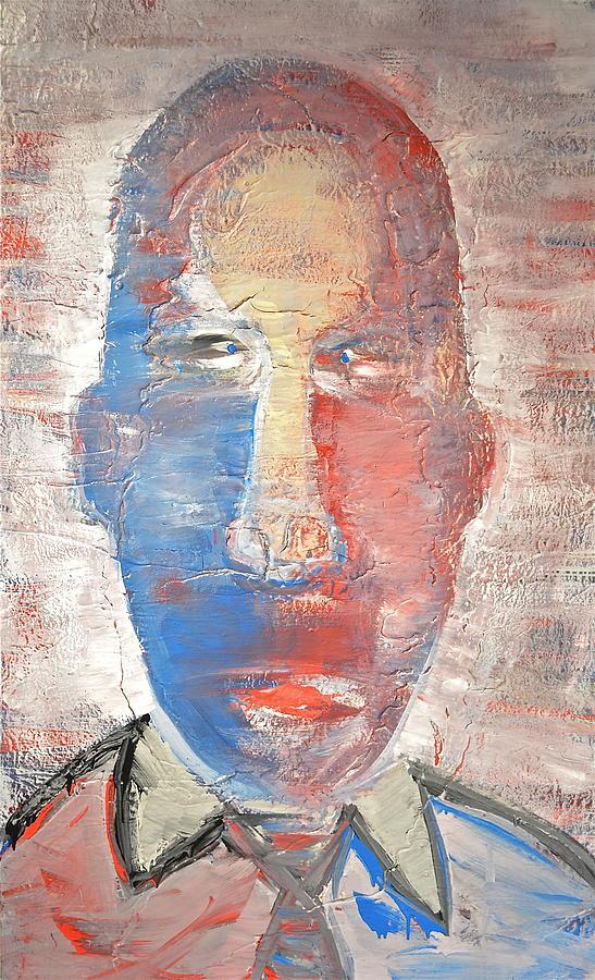 Portrait Painting - Blunt Force Tie by Brooke Friendly