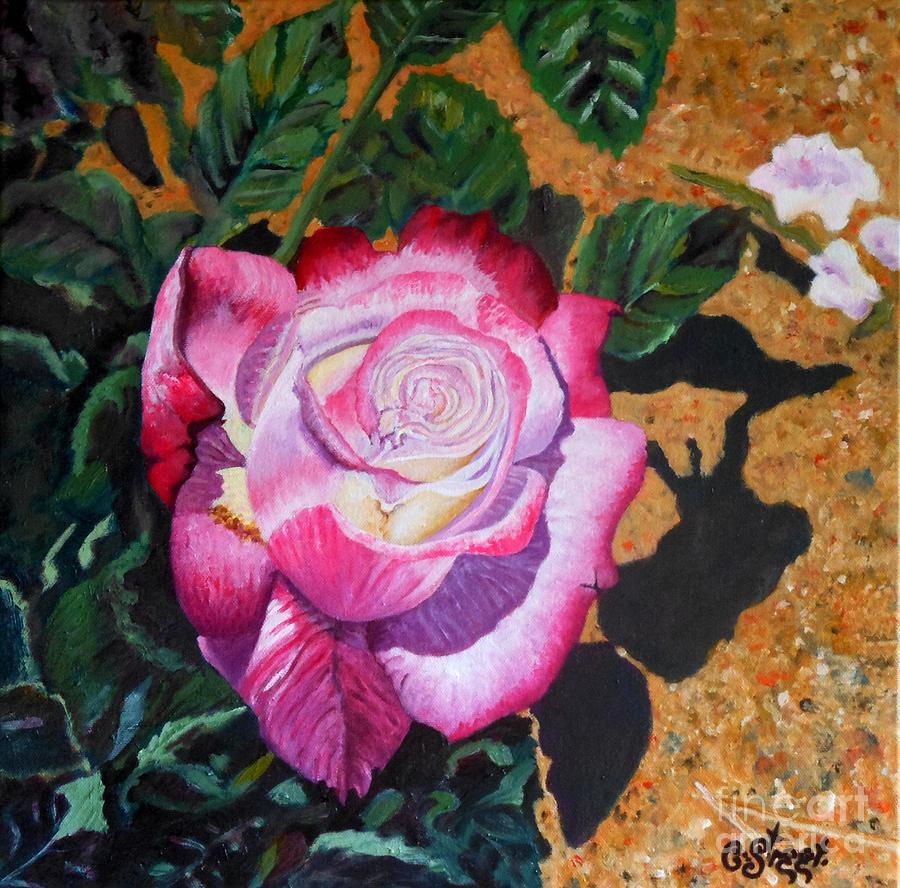 Blushing Rose Painting