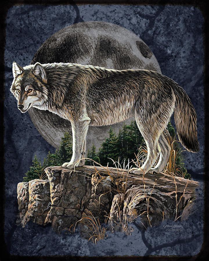 Bm Wolf Moon Painting