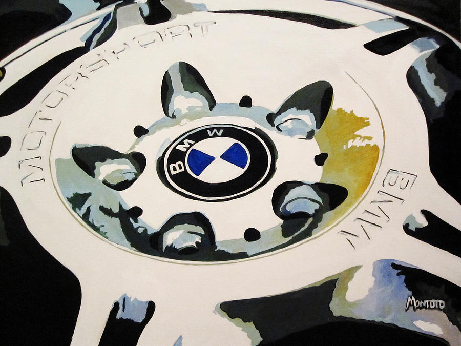 Bmw Ltw Wheel Painting  - Bmw Ltw Wheel Fine Art Print